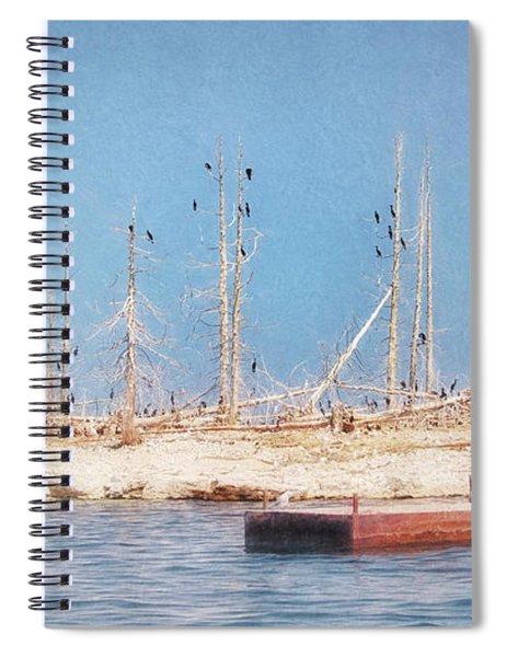 The Cormorants At Deaths Door Spiral Notebook