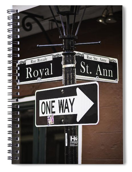 The Corner Of Royal And St. Ann, New Orleans, Louisiana Spiral Notebook