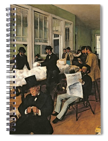 The Cotton Exchange Spiral Notebook by Edgar Degas