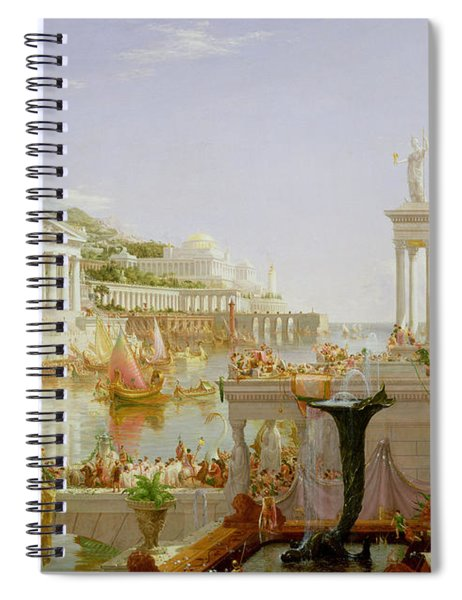 The Course Of Empire - The Consummation Of The Empire Spiral Notebook