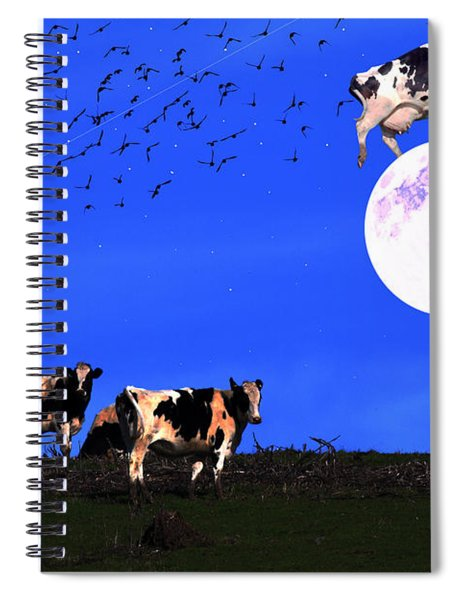 The Cow Jumped Over The Moon Spiral Notebook