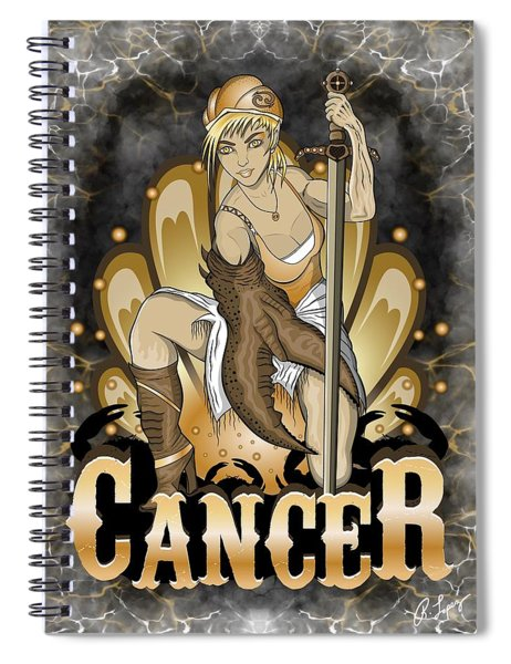 The Crab Cancer Spirit Spiral Notebook