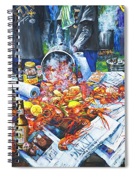 The Crawfish Boil Spiral Notebook