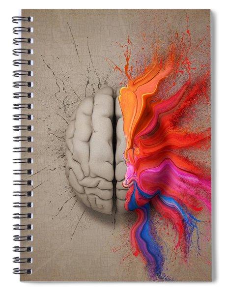 The Creative Brain Spiral Notebook