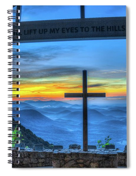 The Cross Sunrise At Pretty Place Chapel Spiral Notebook
