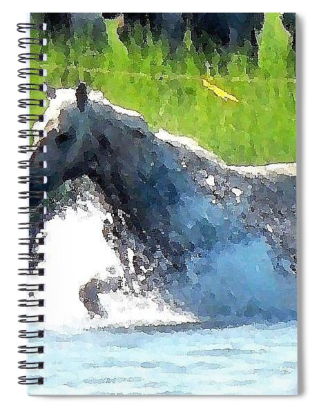 The Crossing - Chincoteague Pony Run Spiral Notebook
