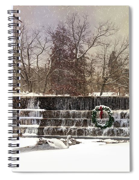 The Dam At Christmas Spiral Notebook