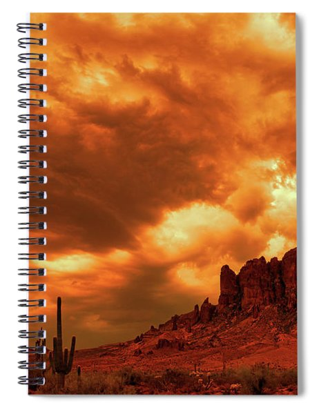 The Day The Sky Burned Spiral Notebook