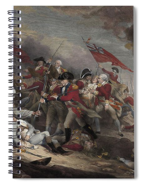 The Death Of General Warren At The Battle Of Bunker Hill, 17th June 1775 Spiral Notebook