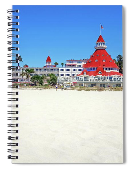 Spiral Notebook featuring the photograph The Del Coronado Hotel San Diego California by Robert Bellomy