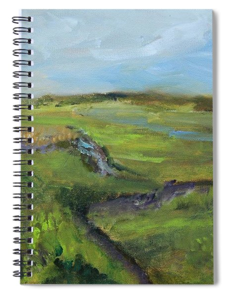 The Distant View Of The Marsh Spiral Notebook