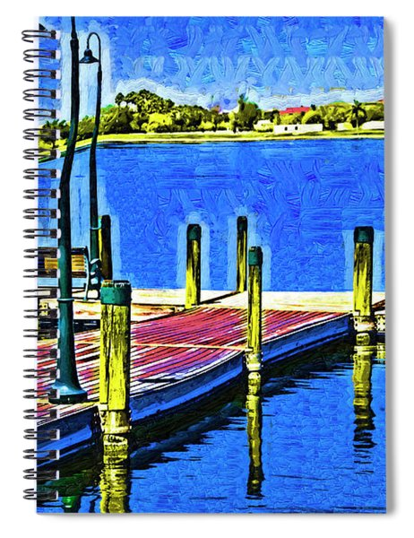 The Dock In Fauvism Spiral Notebook