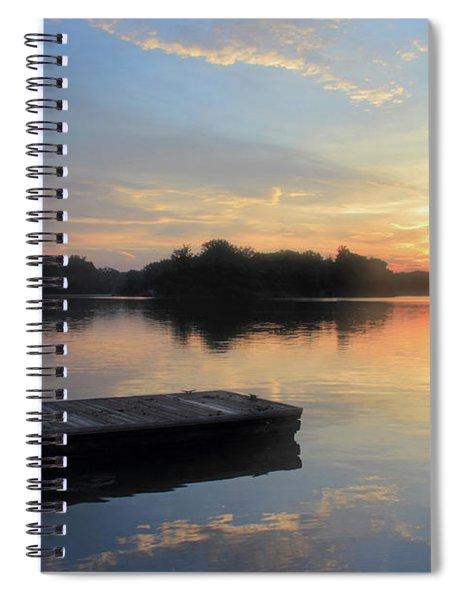 The Docks At Sunrise Spiral Notebook