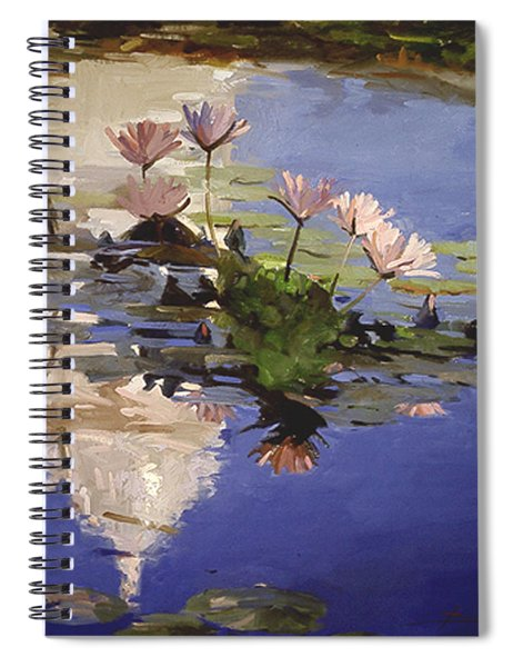The Dome - Water Lilies Spiral Notebook