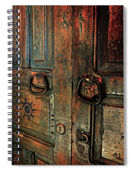 The Door Of Many Colors Spiral Notebook