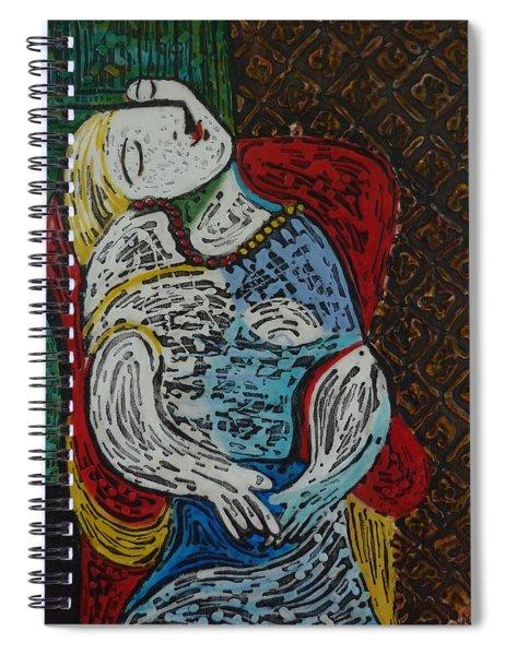 The Dream Walker -le Reve Zombi  Spiral Notebook