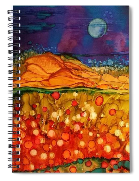The Dunes At Night Spiral Notebook