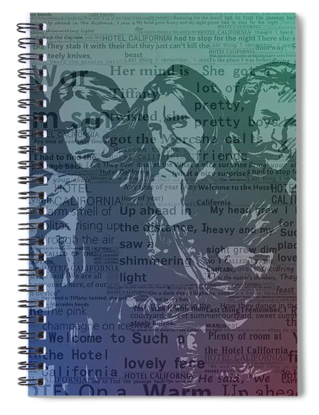 The Eagles Hotel California Spiral Notebook