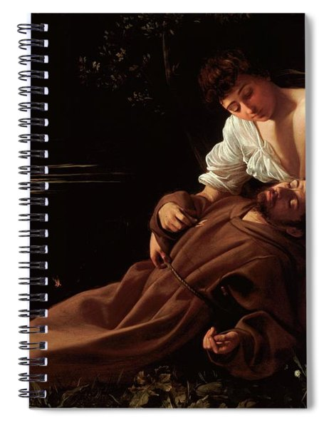 The Ecstacy Of Saint Francis Of Assisi Spiral Notebook