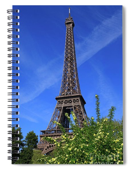 The Eiffel Tower In Spring Spiral Notebook