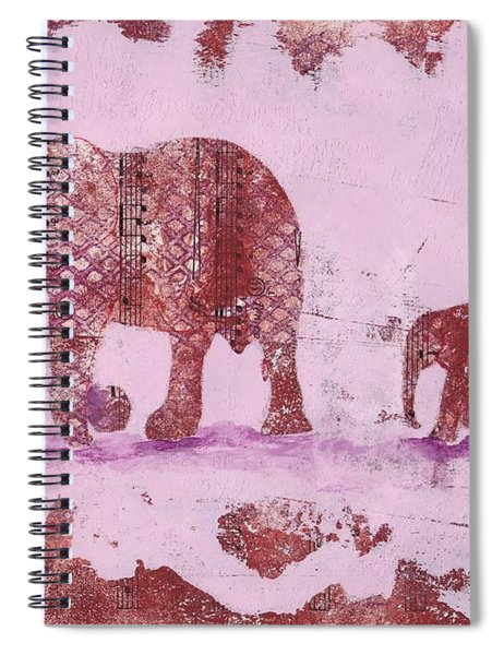 The Elephant March Spiral Notebook