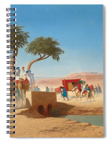 The Empress Eugenie Visiting The Pyramids Spiral Notebook