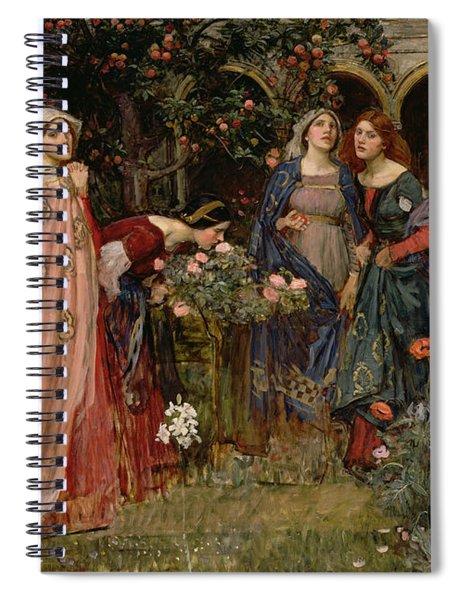 The Enchanted Garden Spiral Notebook