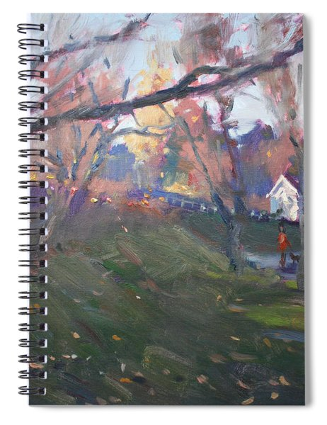 The End Of Autumn Day In Glen Williams On Spiral Notebook