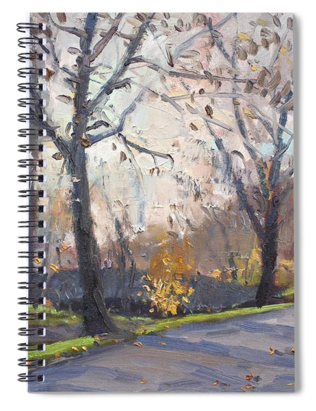 The End Of Fall At Three Sisters Islands Spiral Notebook