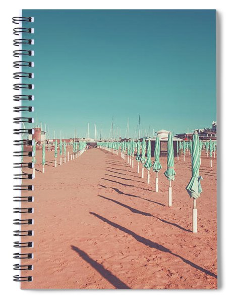The End Of Summer Season  Spiral Notebook