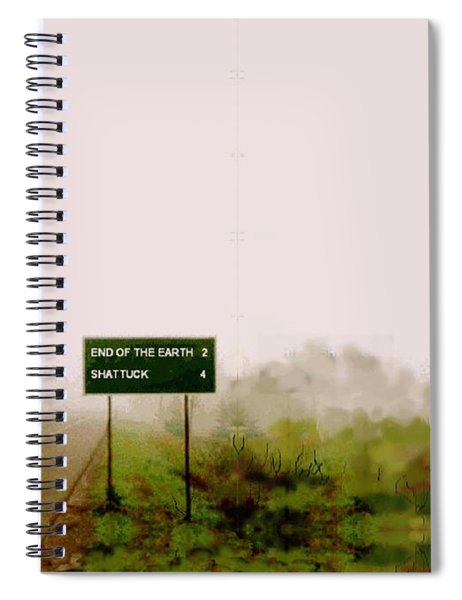 The End Of The Earth Spiral Notebook