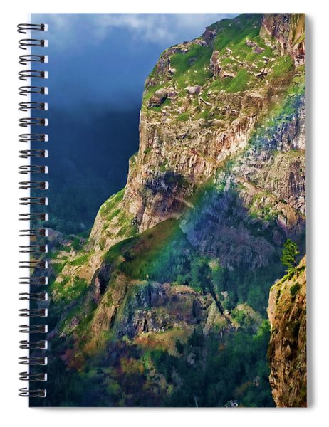 The End Of The Rainbow Spiral Notebook