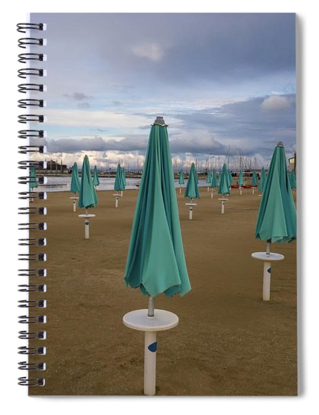 The End Of The Season In Rimini Spiral Notebook