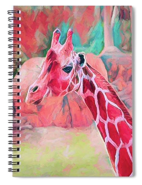 The Endearing Giraffe Spiral Notebook