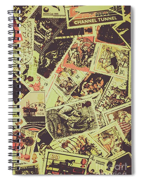 The English Postage Scene Spiral Notebook