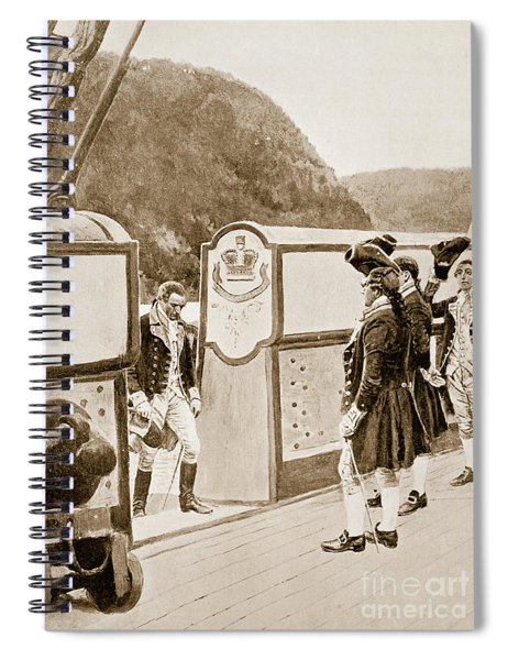 The Escape Of Arnold On The British Sloop Of War, Vulture  Spiral Notebook