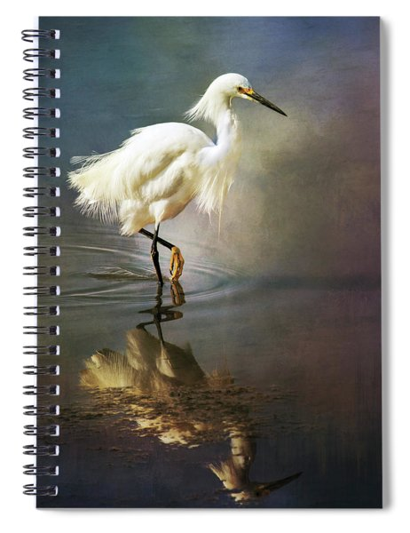 The Ethereal Egret Spiral Notebook