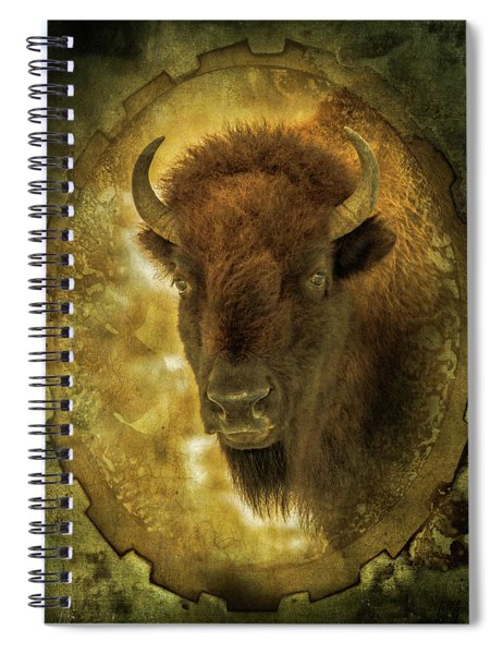 The Face Of Tatanka Spiral Notebook