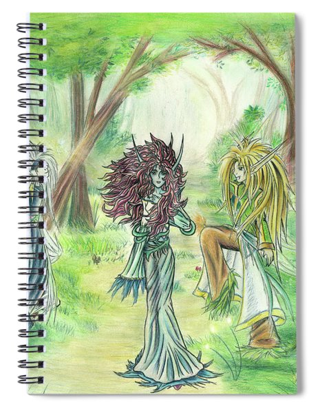 The Fae - Sylvan Creatures Of The Forest Spiral Notebook