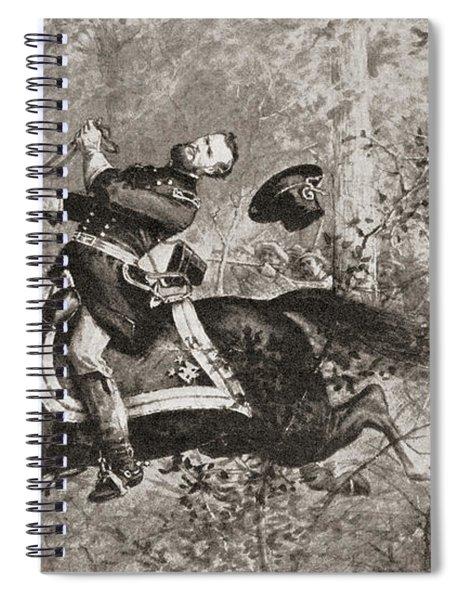The Fall Of General James Birdseye Mcpherson Spiral Notebook