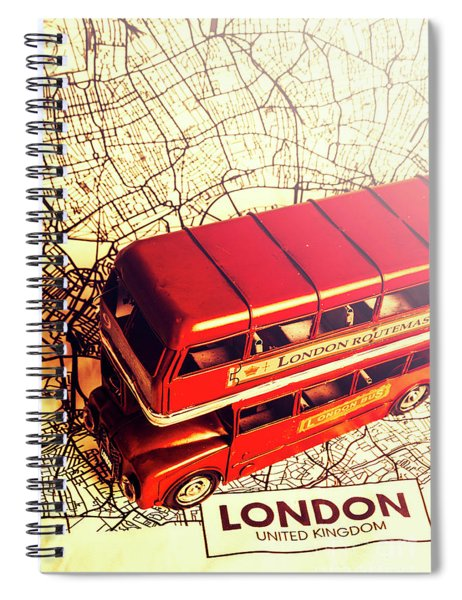 The Famous Red Bus Spiral Notebook