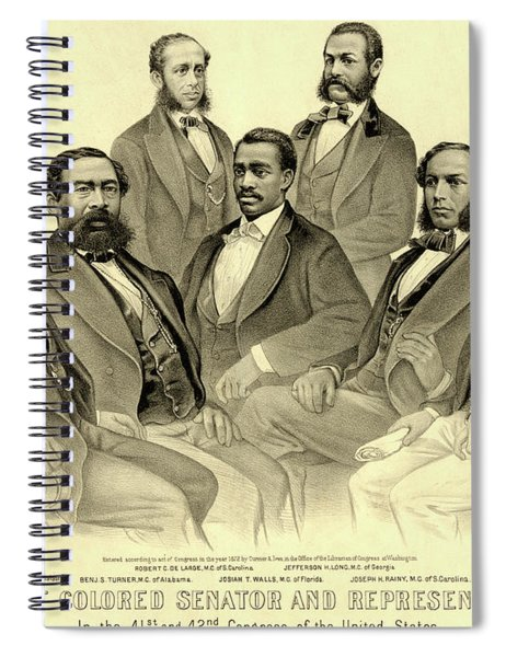 The First African American Senator And Representatives Spiral Notebook