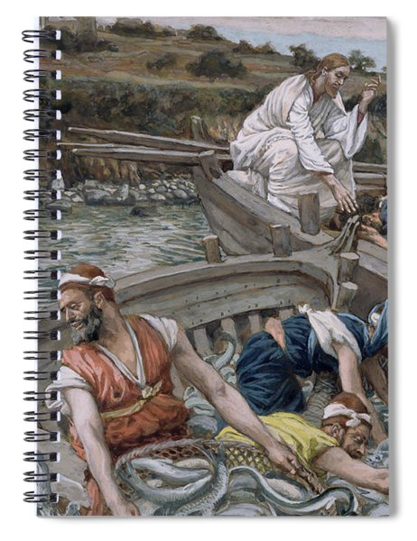 The First Miraculous Draught Of Fish Spiral Notebook