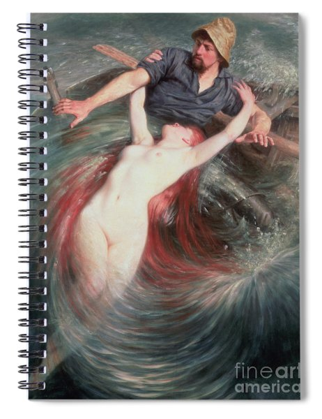 The Fisherman And The Siren Spiral Notebook
