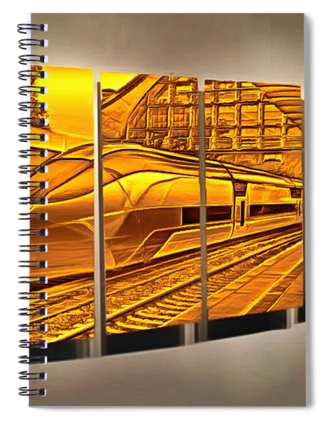 The Five Past Eleven Train Spiral Notebook
