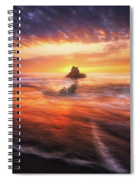 The Flaming Rock Spiral Notebook