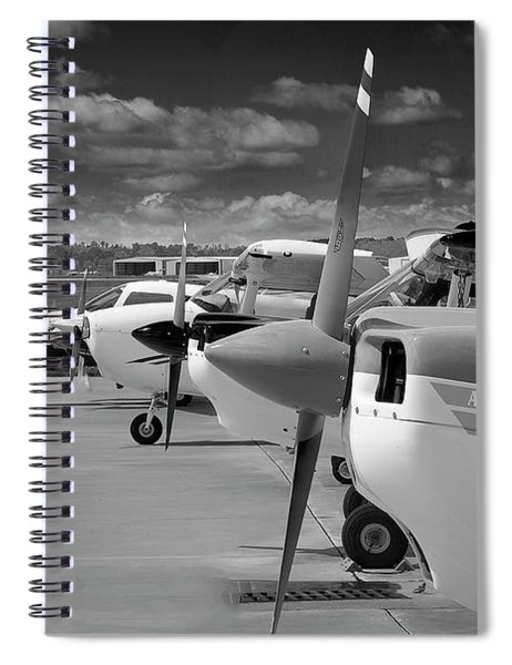 The Fleet In Black And White Spiral Notebook
