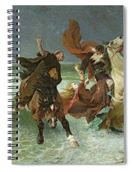 The Flight Of Gradlon Mawr Spiral Notebook
