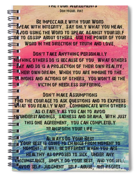 The Four Agreements 11 Spiral Notebook