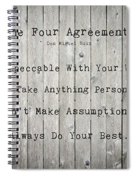 The Four Agreements 12 Spiral Notebook